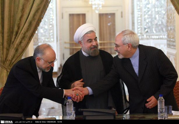 President-Rohani-with-Salehi-and-Zarif-2-HR